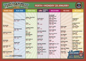 Big Day Out Perth Timetable